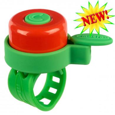 Звонок Micro multicolor green-red для самокатов и беговелов