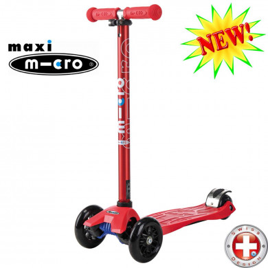 Maxi Micro colored metallic T-tube red (Макси Микро Т-тьюб красный) трехколесный самокат