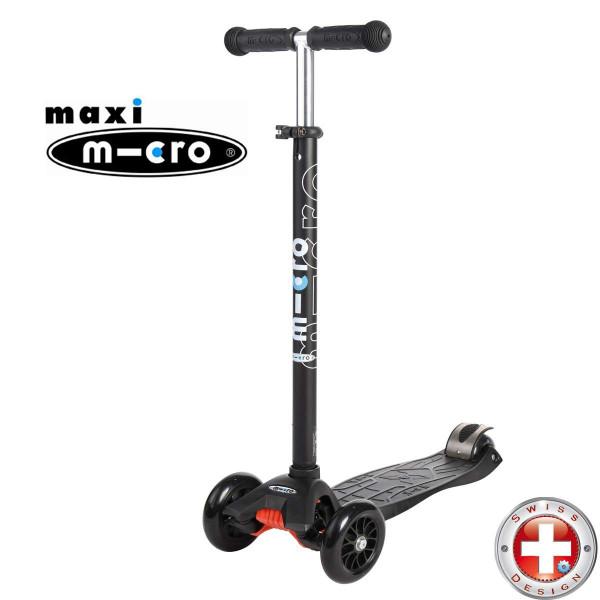 Maxi Micro T-tube black (Макси Микро Т-тьюб черный) трехколесный самокат