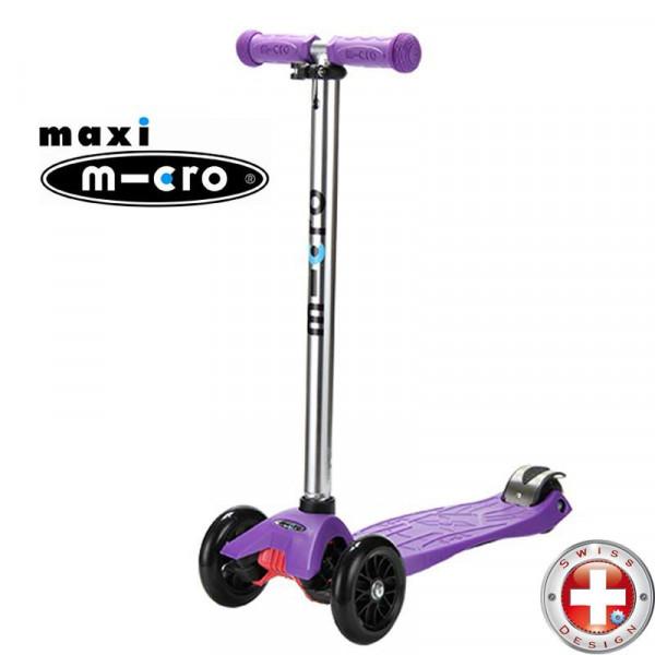 Maxi Micro silver T-tube purple (Макси Микро Т-тьюб сиреневый) трехколесный самокат