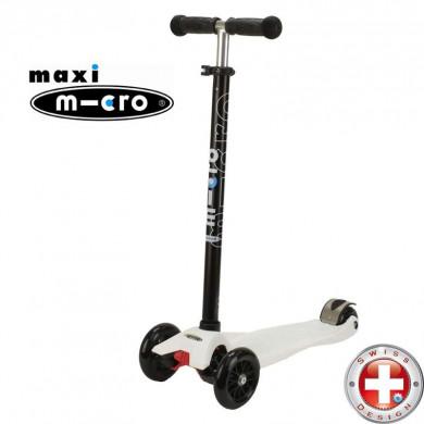 Maxi Micro T-tube white(Макси Микро Т-тьюб белый) трехколесный самокат
