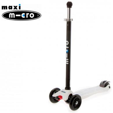 Maxi Micro Joystick white (Макси Микро джойстик белый) трехколесный самокат