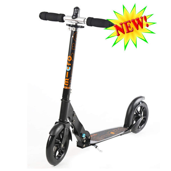 Micro scooter Black interlock (Микро скутер Блэк c замком) самокат