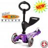 Mini Micro Deluxe 3in1 purple (Мини Микро 3в1 Делюкс сиреневый) трехколесный самокат с сиденьем