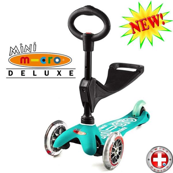 Mini Micro Deluxe 3in1 aqua (Мини Микро Делюкс 3в1 аква) трехколесный самокат с сиденьем