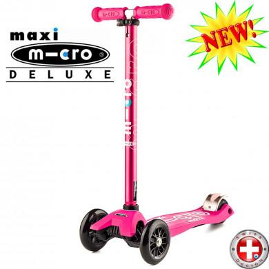 Maxi Micro Deluxe pink (Макси Микро Делюкс розовый) трехколесный самокат