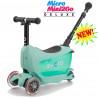 Micro Mini2Go Deluxe Plus mint  (Микро Мини Два Гоу Делюкс Плюс ментоловый) трехколесный самокат с сиденьем