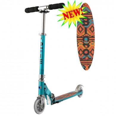 Micro scooter Sprite teal Tribal (Микро скутер Спрайт бирюзовый Трайбл) самокат
