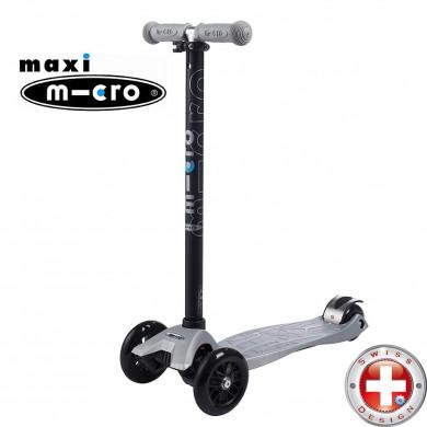 Maxi Micro T-tube silver (Макси Микро Т-тьюб cеребряный) трехколесный самокат