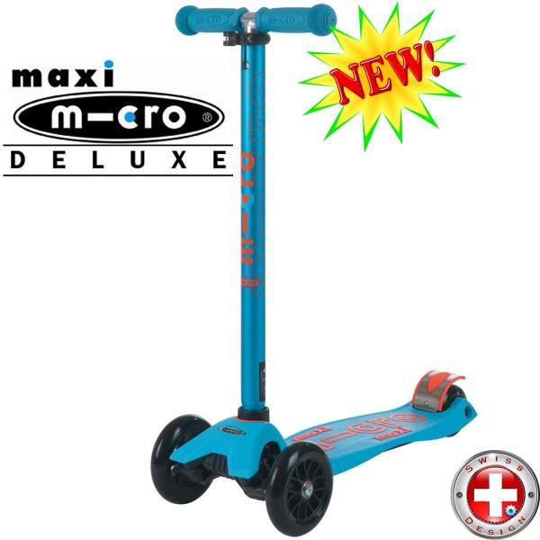 Maxi Micro Deluxe Caribbean blue (Макси Микро Делюкс карибский синий) трехколесный самокат