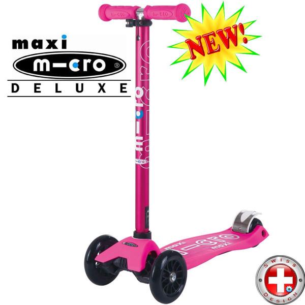 Maxi Micro Deluxe Shocking Pink (Макси Микро Делюкс розовый) трехколесный самокат