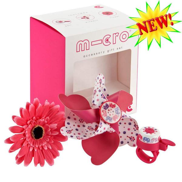 Набор аксессуаров Micro Elephant в подарочной коробке (подарочная коробка + вертушка + звонок + цветочек)