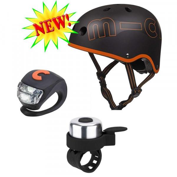 Набор аксессуаров со шлемом Micro black-orange размер М