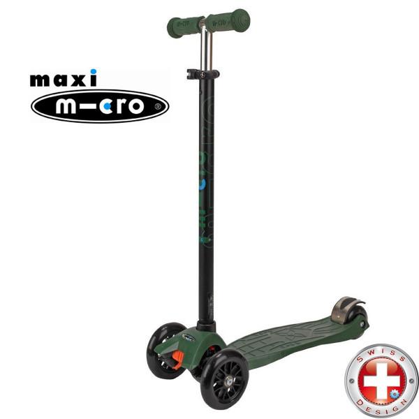 Maxi Micro T-tube camo green (Макси Микро  Т-тьюб камуфляж) трехколесный самокат