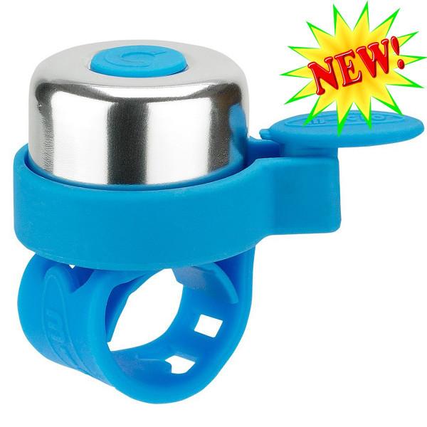 Звонок Micro light blue для самокатов и беговелов