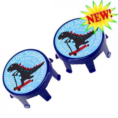 Накладки на колеса Micro Dino light blue для самокатов Mini и Maxi Micro