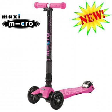 Maxi Micro складной T-tube pink (Макси Микро Т-тьюб розовый) трехколесный самокат