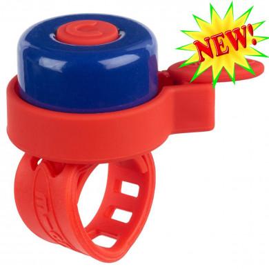 Звонок Micro multicolor red-blue для самокатов и беговелов