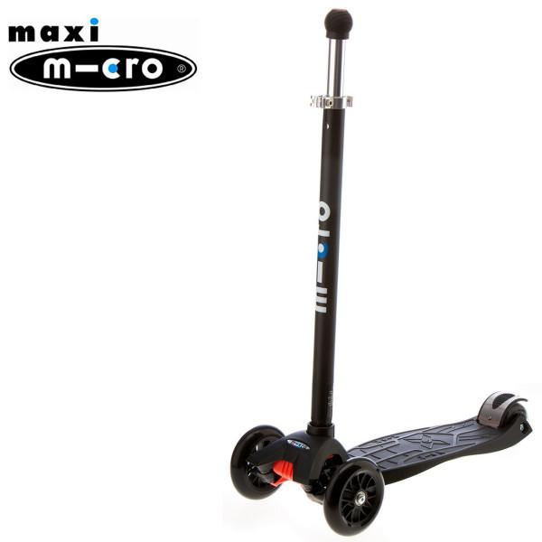 Maxi Micro Joystick black  (Макси Микро джойстик черный) трехколесный самокат