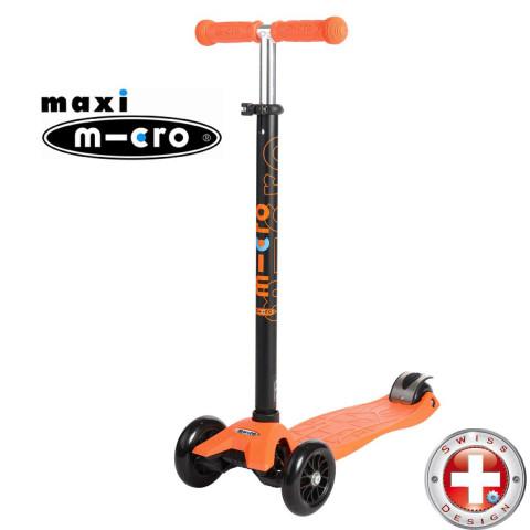 Трехколесный самокат Maxi Micro T-tube orange (оранжевый) для детей от 4 до 12 лет