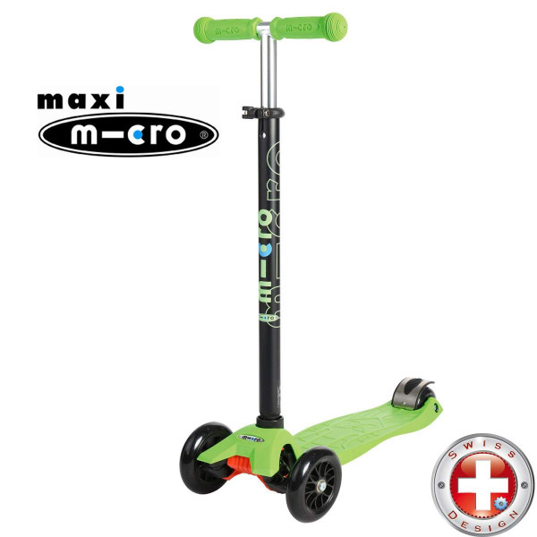 Maxi Micro T-tube lemon green (Макси Микро Т-тьюб зеленый) трехколесный самокат