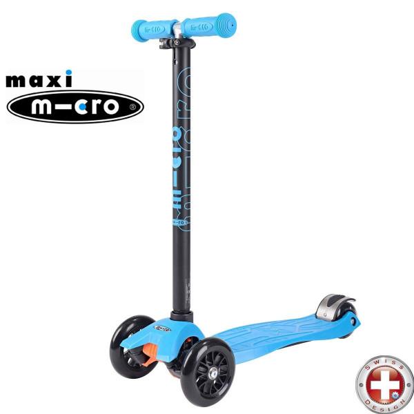 Трехколесный самокат Maxi Micro T-tube aqua (аква) для детей от 4 до 12 лет