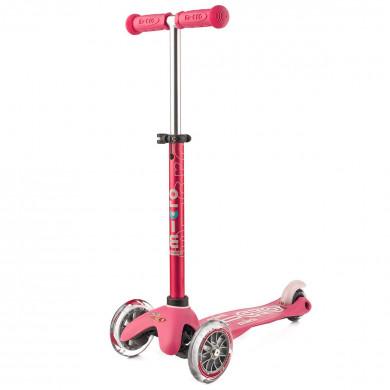 Детский трехколесный самокат Mini Micro Deluxe pink  (розовый)  для малышей от 1,5 до 5 лет