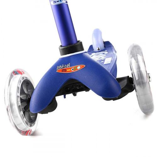 Детский трехколесный самокат Mini Micro Deluxe blue (синий) для малышей от 1,5 до 5 лет