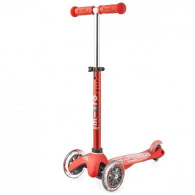 Детский трехколесный самокат Mini Micro Deluxe  red (красный) для малышей от 1,5 до 5 лет