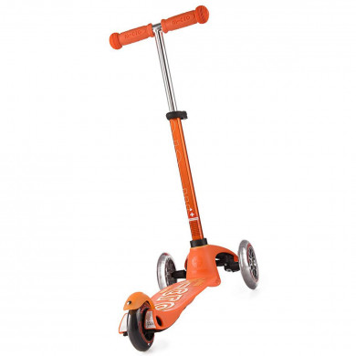 Детский трехколесный самокат Mini Micro Deluxe Mini Micro Deluxe orange (оранжевый) для малышей от 1,5 до 5 лет