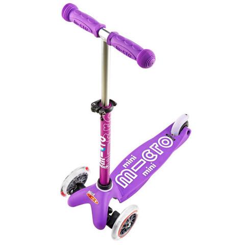 Детский трехколесный самокат Mini Micro Deluxe purple (сиреневый) для малышей от 1,5 до 5 лет