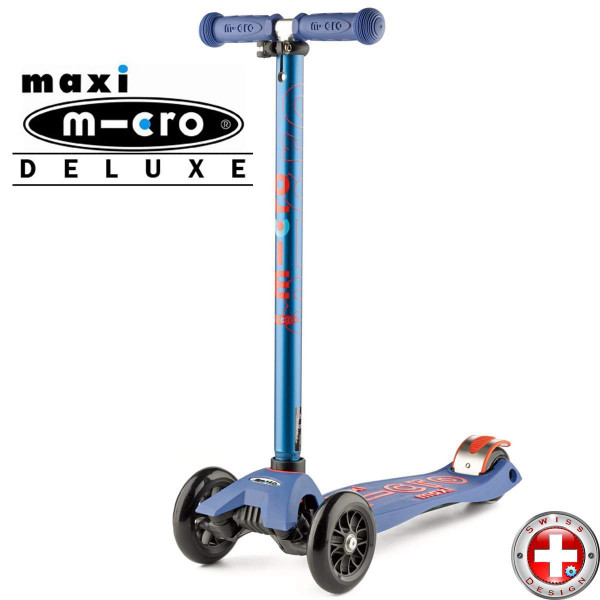 Детский трехколесный самокат Maxi Micro Deluxe blue (синий)