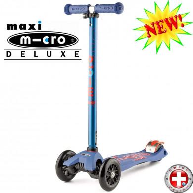 Maxi Micro Deluxe blue (Макси Микро Делюкс синий) трехколесный самокат