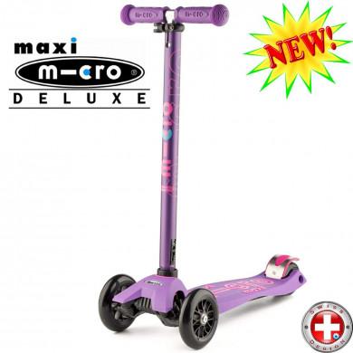 Maxi Micro Deluxe purple (Макси Микро Делюкс сиреневый) трехколесный самокат