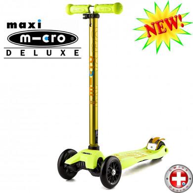 Maxi Micro Deluxe yellow (Макси Микро Делюкс желтый) трехколесный самокат