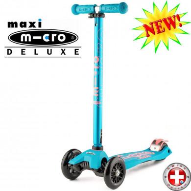 Maxi Micro Deluxe aqua (Макси Микро Делюкс аква) трехколесный самокат