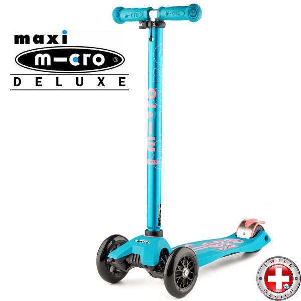 Трехколесный самокат Maxi Micro Deluxe aqua (аква)