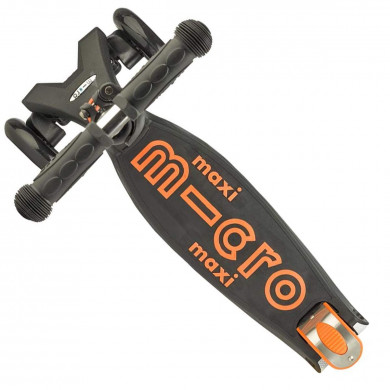 Трехколесный самокат Maxi Micro Deluxe black-orange (черно-оранжевый)