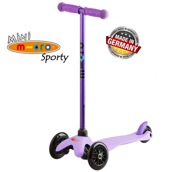 Mini Micro Sporty Candy lilac black wheels (Мини Микро Спорти Кэнди сиреневый c черными колесами) трехколесный самокат