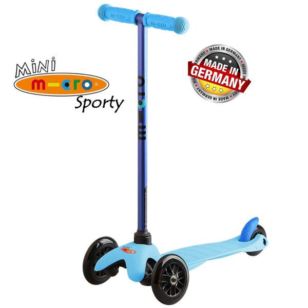 Mini Micro Sporty Candy blue black wheels (Мини Микро Спорти Кэнди синий c черными колесами) трехколесный самокат