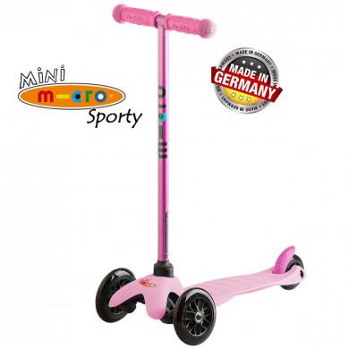 Mini Mikro Sporty Candy pink black wheels (Мини Микро Спорти Кэнди розовый с черными колесами) трехколесный самокат