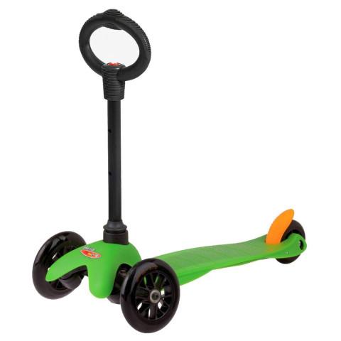 Трехколесный самокат с сиденьем Mini Micro Sporty 3in1 green (зеленый) для малышей от 1 года до 5 лет