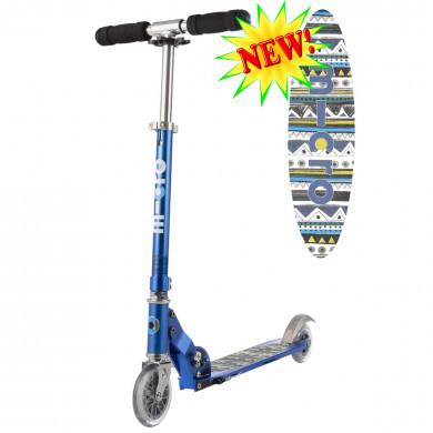 Micro scooter Sprite blue Aztec (Микро скутер Спрайт синий Ацтек) самокат