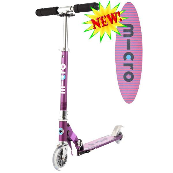 Micro scooter Sprite purple Stripe  (Микро скутер Спрайт сиреневый Полоска) самокат