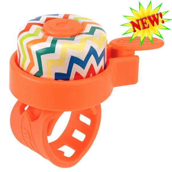 Звонок Micro Zig-Zag orange для самокатов и беговелов