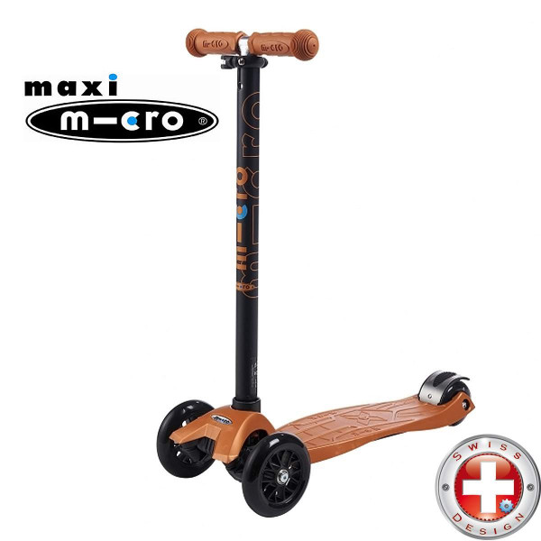 Maxi Micro T-tube bronza (Макси Микро Т-тьюб бронзовый) трехколесный самокат