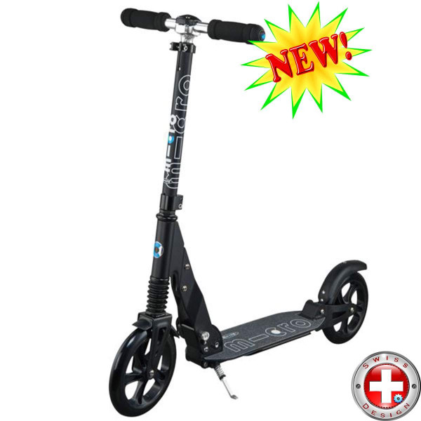 Micro scooter Suspension black (Микро скутер Сэспеншэн черный) самокат с амортизаторами