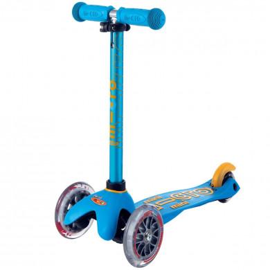 Детский трехколесный самокат Mini Micro Deluxe Ocean blue (морской синий) для малышей от 1,5 до 5 лет