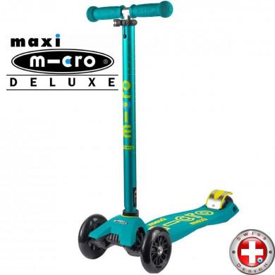 Трехколесный самокат Maxi Micro Deluxe Petrol green (петрол грин)