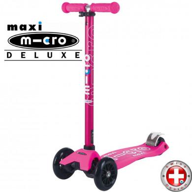 Трехколесный самокат Maxi Micro Deluxe Shocking Pink (розовый)